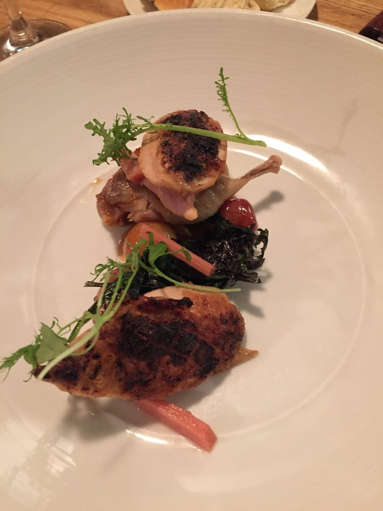 Photo of AQ Restaurant & Bar - San Francisco, CA, United States. Spring: Quail with new potatoes