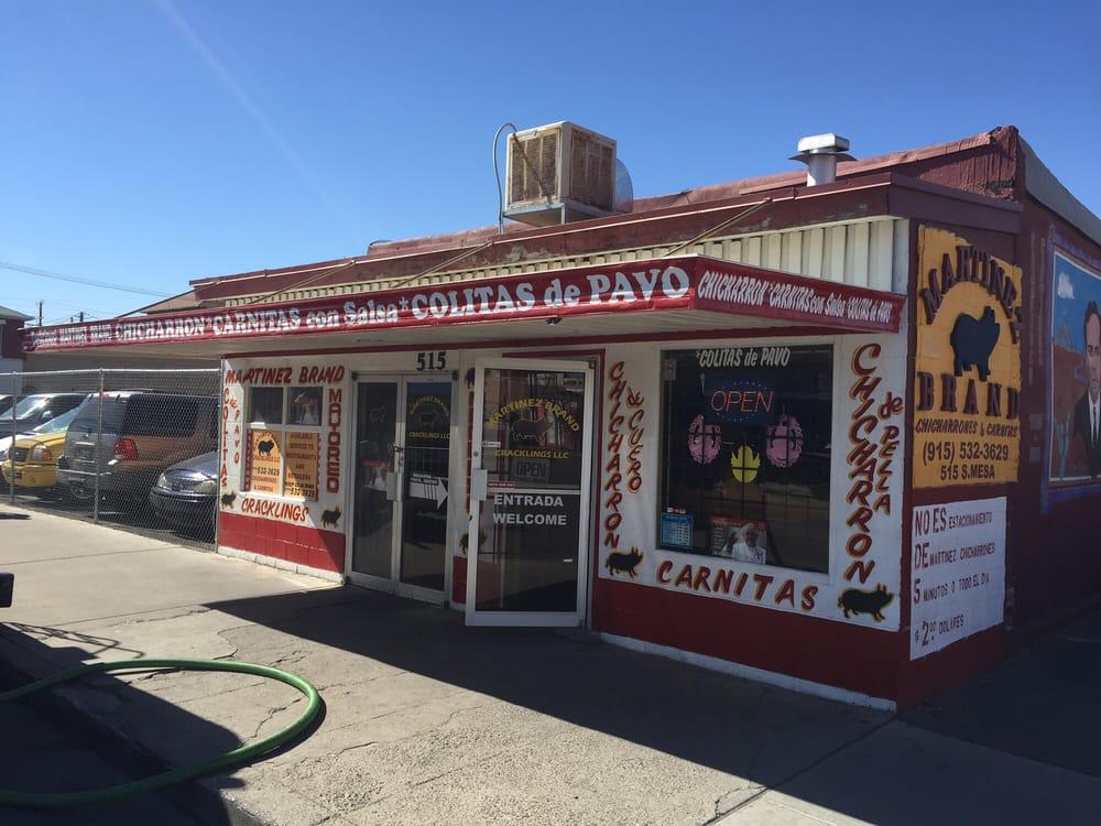 Martinez Brand Cracklings: 515 S Mesa St, El Paso, TX