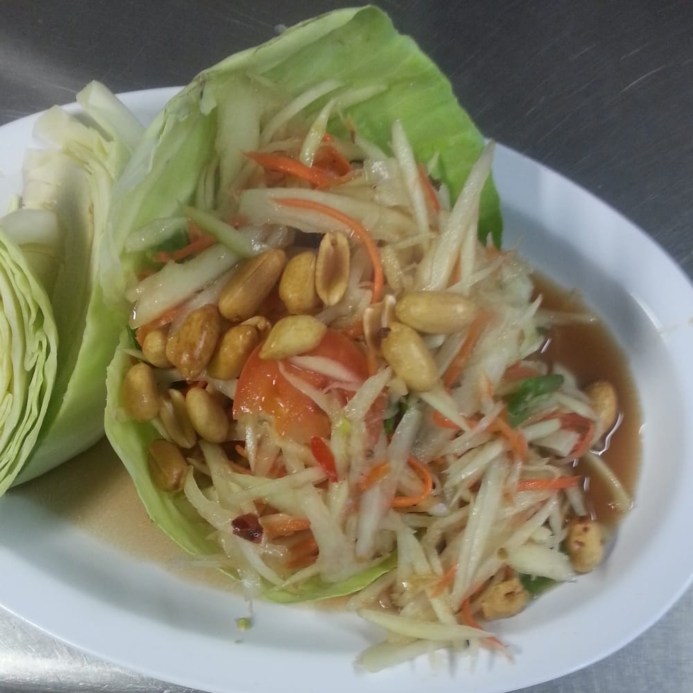 Thai Kitchen Evans Ga: The Best Green Papaya Salad Yummy
