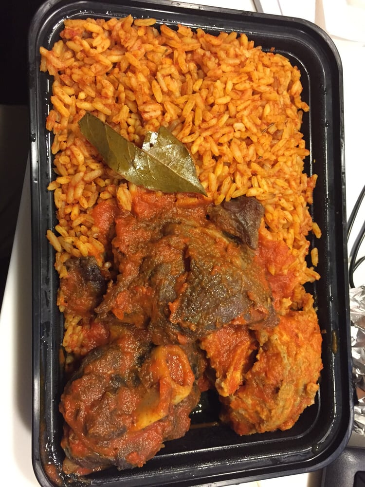 Jolaf Rice W Mix Meats Fish Chicken And Goat Yelp