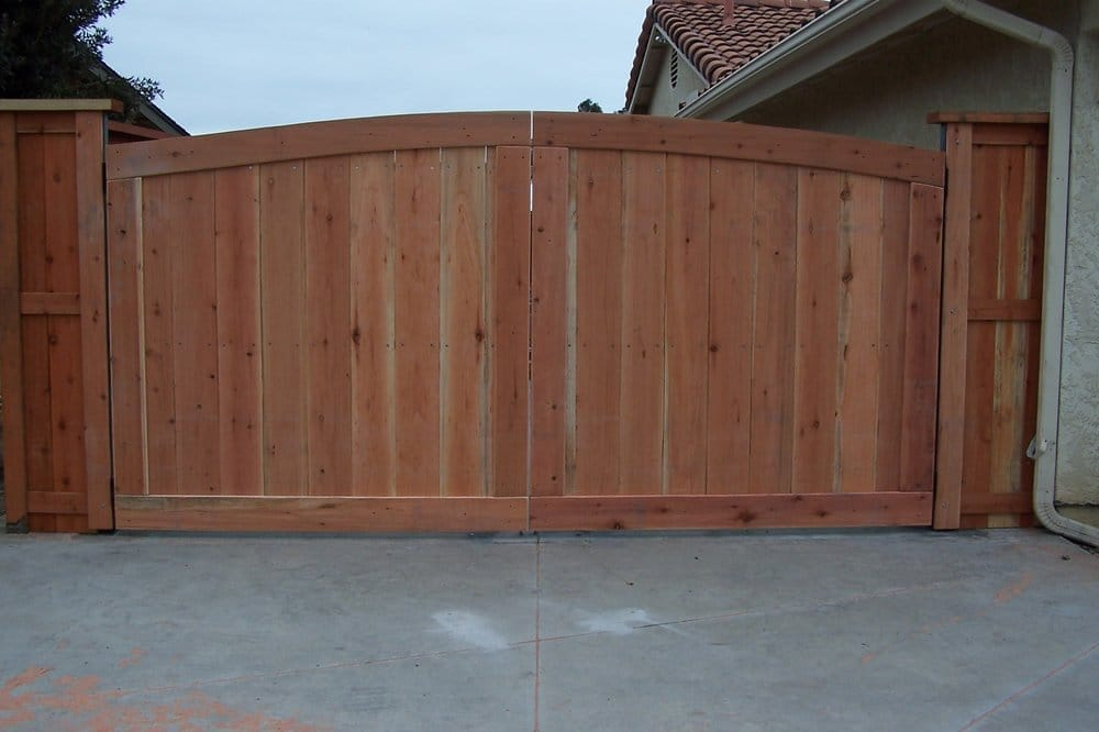 Arch Top Double Drive Wood Gate Yelp