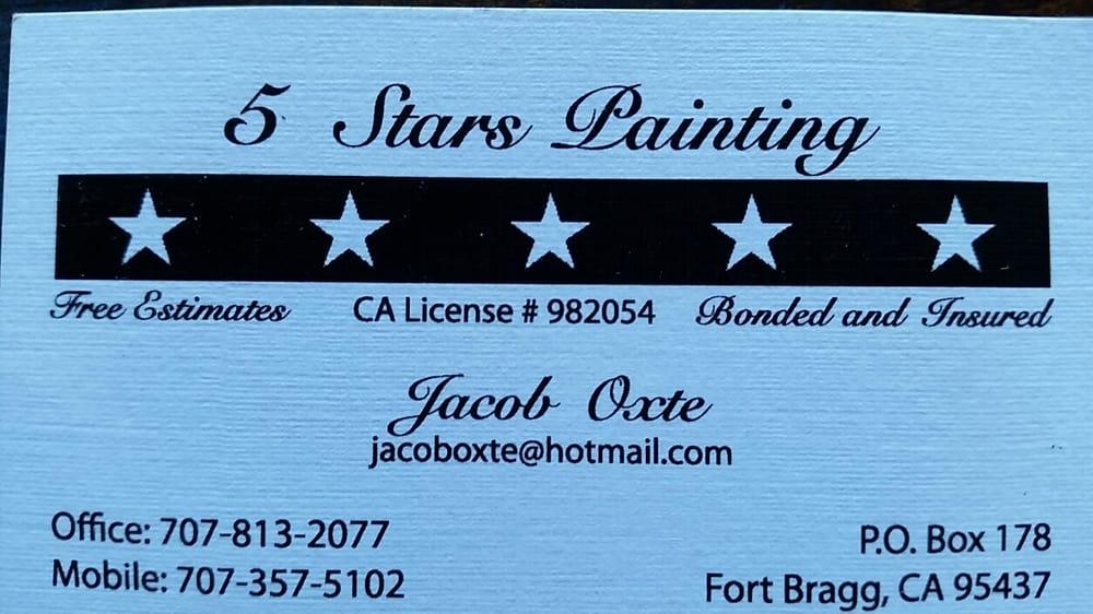 5 Stars Painting: 1054 E Chestnut St, Fort Bragg, CA