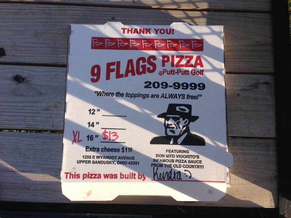 9 Flags Pizza: 1255 E Wyandot Ave, Upper Sandusky, OH
