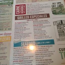 Lupe Tortilla Mexican Restaurant Menu