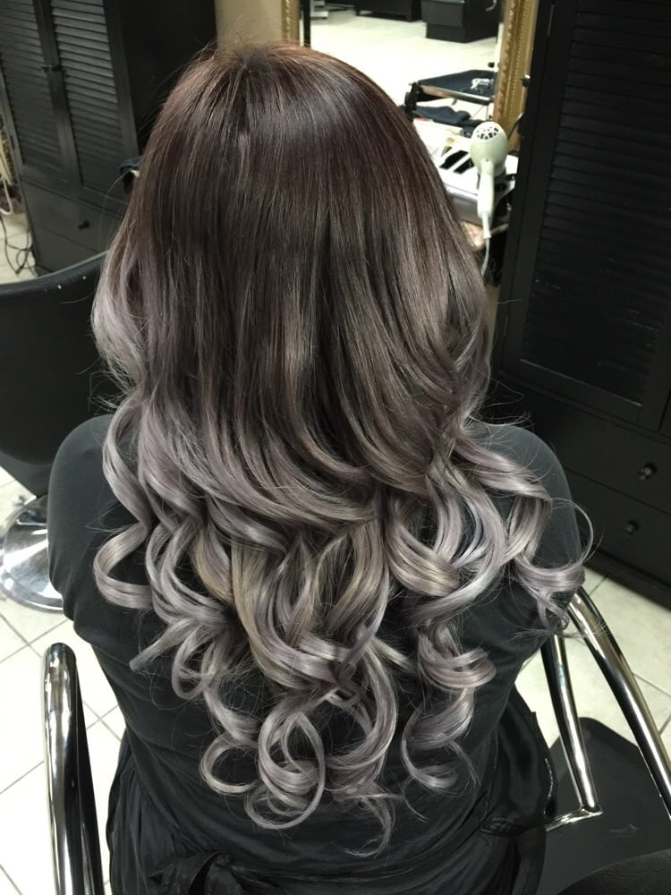 Silver ombre also added microbeadextensions no damage