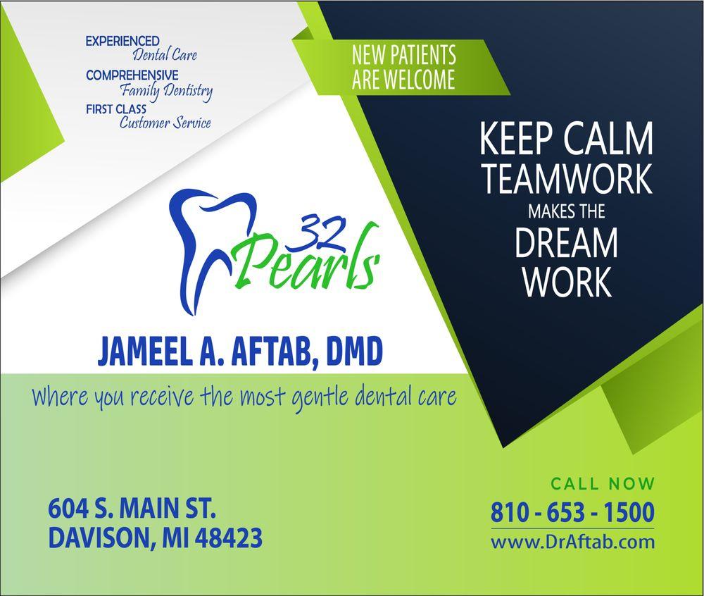 32 Pearls - Gentle Dentistry: 604 S Main St, Davison, MI
