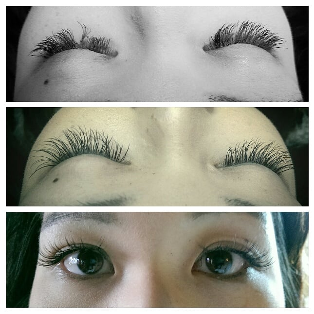 Corrective Eye Lash Extension Work Removal Of Damaging Cluster