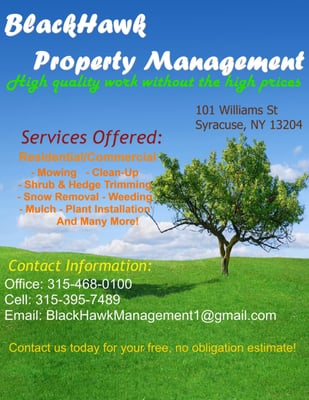 Blawkhawk property management administradora de im veis for 101 wendell terrace syracuse ny