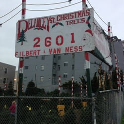 Delancey Street Christmas Trees San Francisco