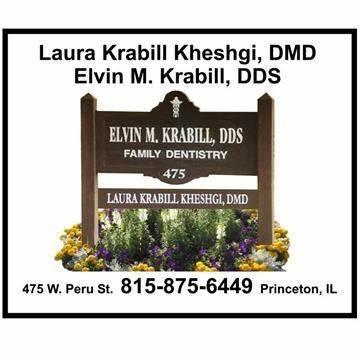 Elvin M. Krabill, DDS: 475 W Peru St, Princeton, IL