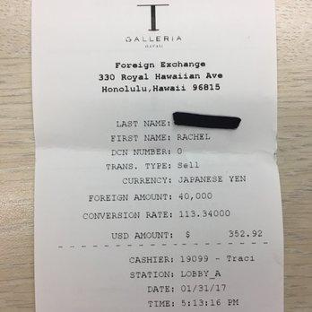 Photo Of Dfs Galleria Money Exchange Window Honolulu Hi United States No