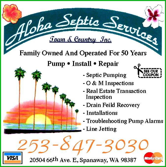 Aloha Septic Service: 20504 66th Ave E, Spanaway, WA