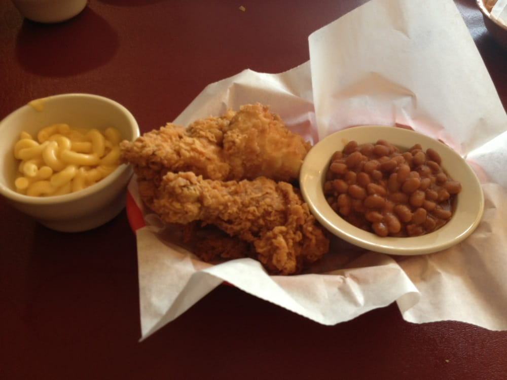 2 Piece Chicken Meal With Baked Beans And Mac Amp Cheese Yelp