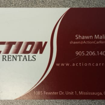 Action car truck rentals car rental 1085 fewster drive photo of action car truck rentals mississauga on canada business card reheart Gallery