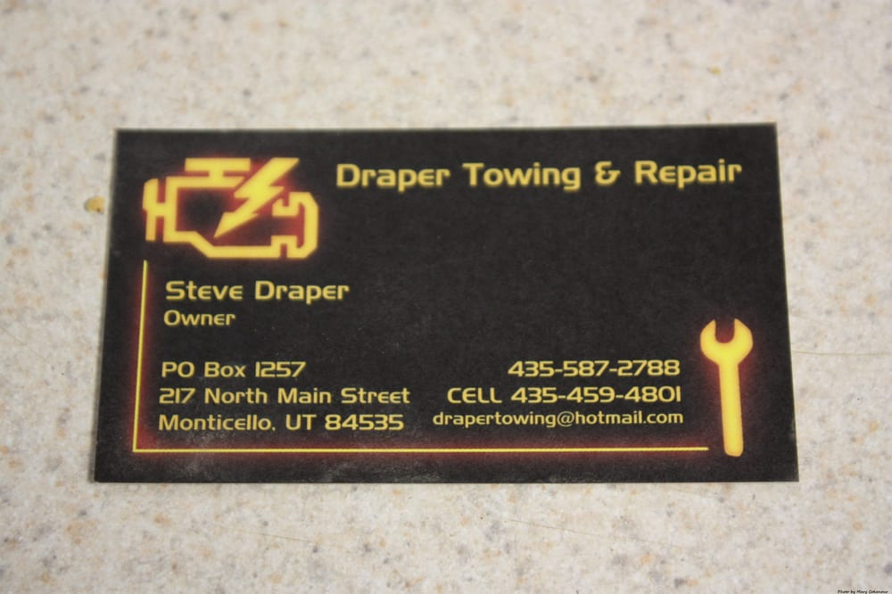Draper Towing: 217 N Main St, Monticello, UT