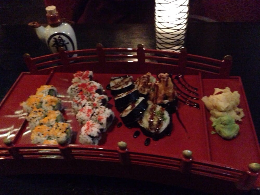 Three sushi rolls tasty but small yelp for Azian cuisine menu