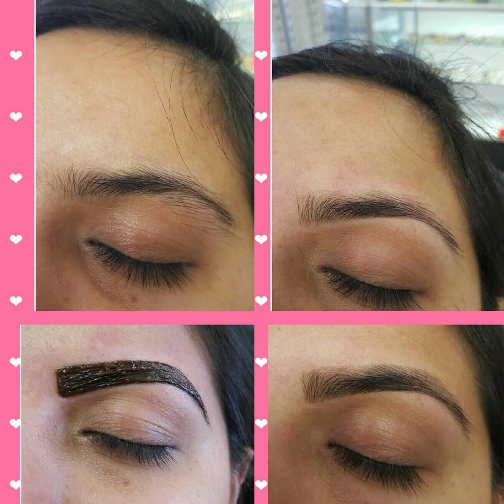 Eyebrow Tint: Before, during and after. - Yelp