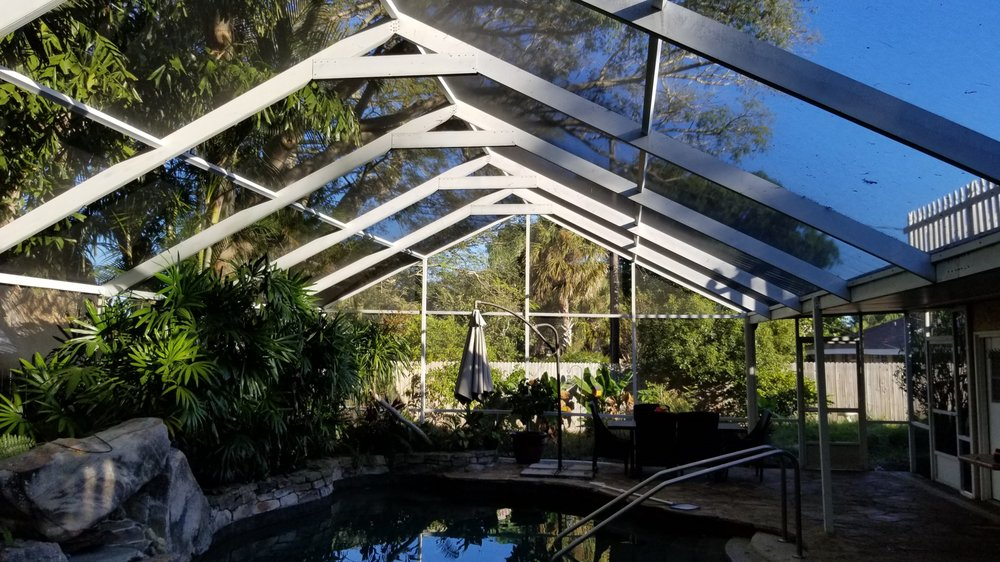 Modern Pool Cage Painting: 7110 Jarvis Rd, Sarasota, FL