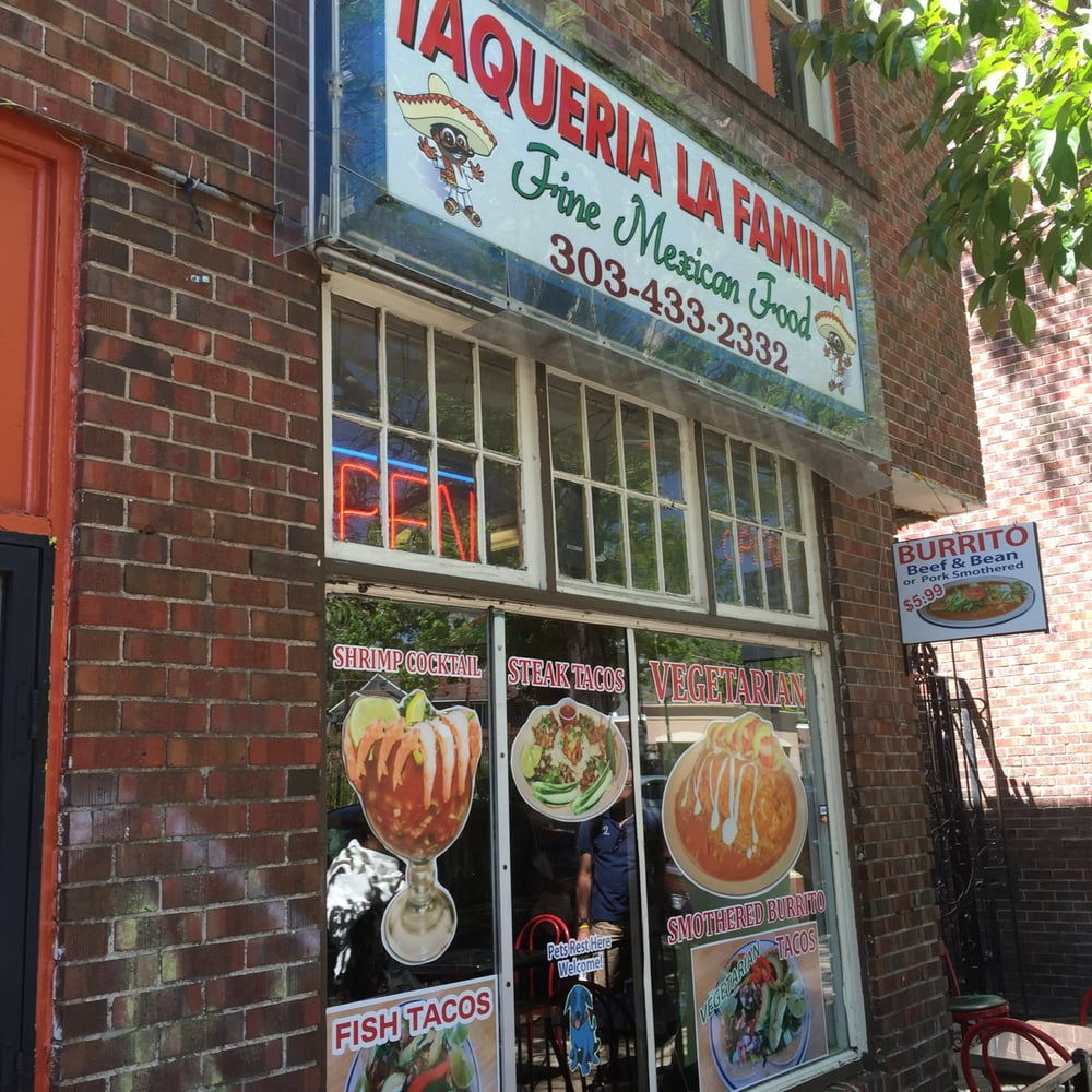 Taqueria La Familia - Denver, CO, United States. Regular and vegetarian Mexican Food. Great! Fantastic!