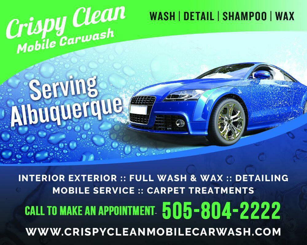 crispy clean mobile car wash 32 22 3011 jane pl ne eastside nm. Black Bedroom Furniture Sets. Home Design Ideas