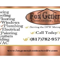 Fox general contractor contractors 2924 san marcos dr western photo of fox general contractor fort worth tx united states fox general fox general contractor business card colourmoves