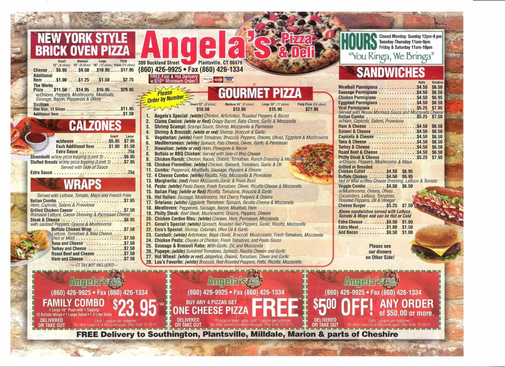 Angela pizza odessa fl coupons