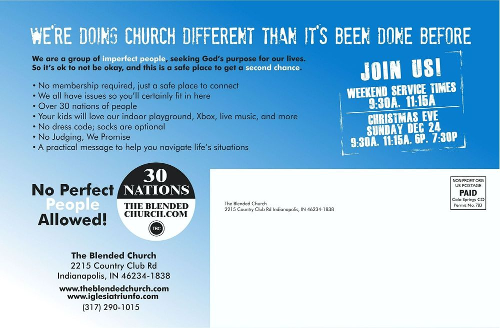 The Blended Church: 2215 Country Club Rd, Indianapolis, IN
