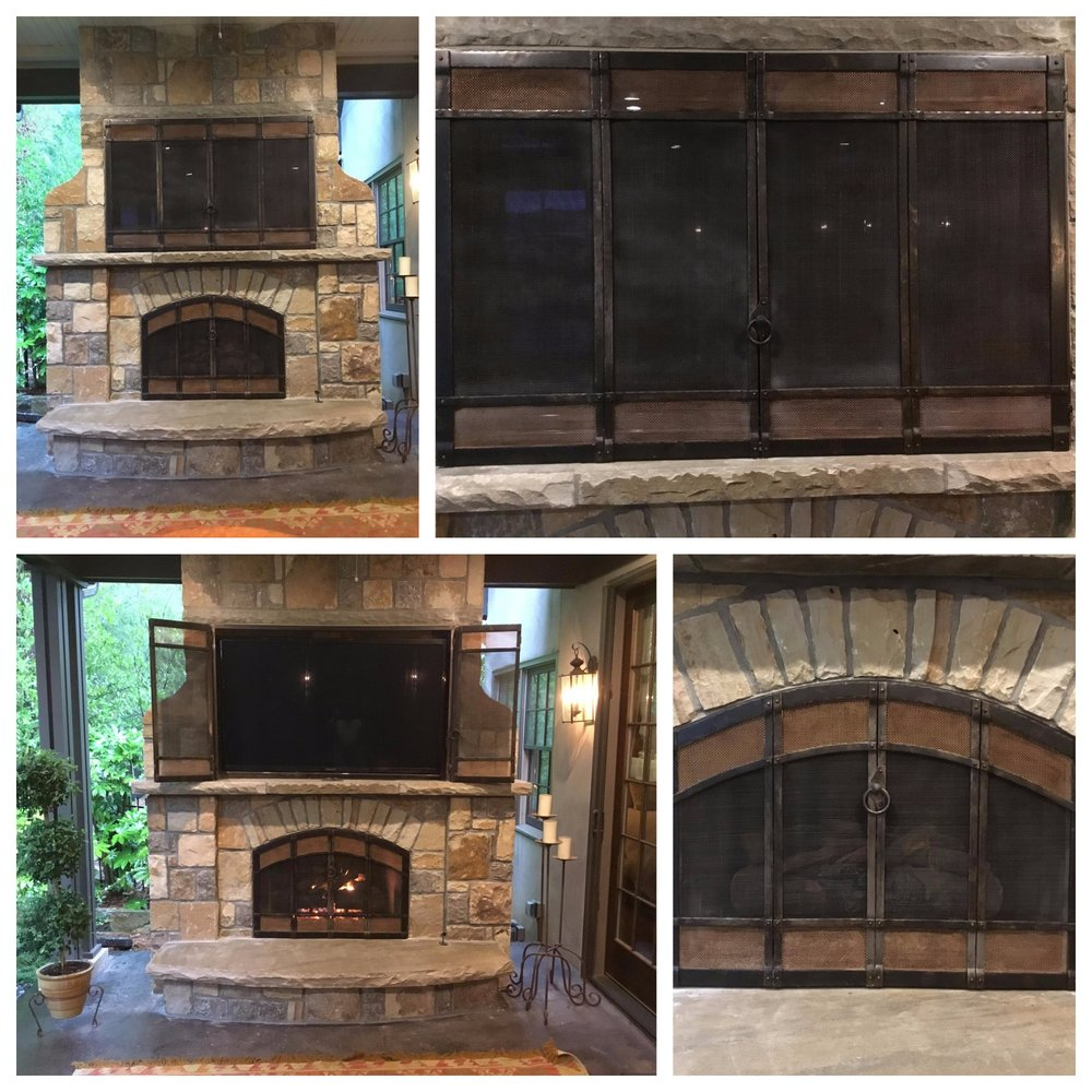 Custom Hand Forged Objects Fireplace Doors Metal Fabrication In