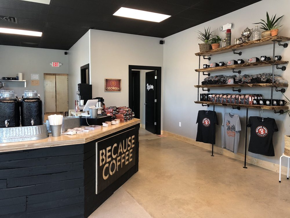 Because Coffee: 240 Dawson Village Way N, Dawsonville, GA