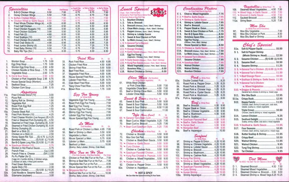 Chinese Restaurant Trenton Nj Menu