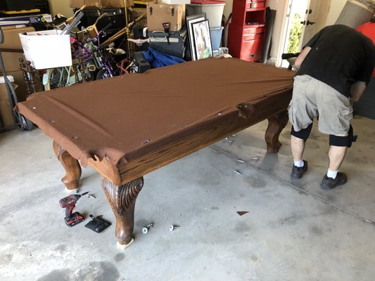Expert Pool Table Moving Recovering Mahlon Vail Rd Temecula - Pool table movers temecula