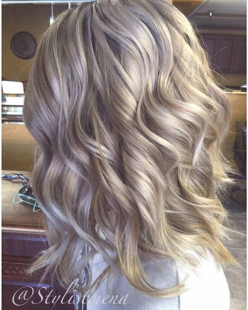 Balayage Short Hair Brunette Highlight Haircut Blonde Yelp