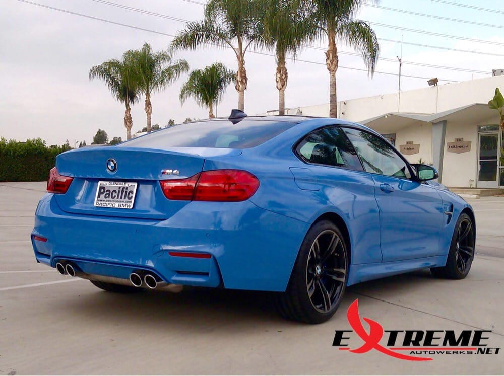 2015 BMW M4 with Prestige Spectra PhotoSync Tint, Whole car wrapped
