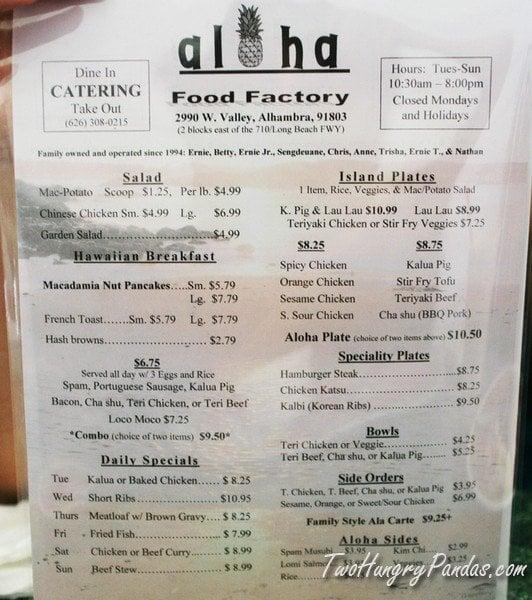 Photos For Aloha Food Factory Yelp