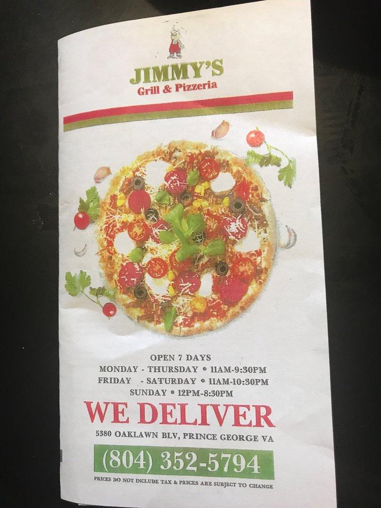 Jimmy' Grill & Pizzeria: 5380 Oaklawn Blvd, Prince George, VA