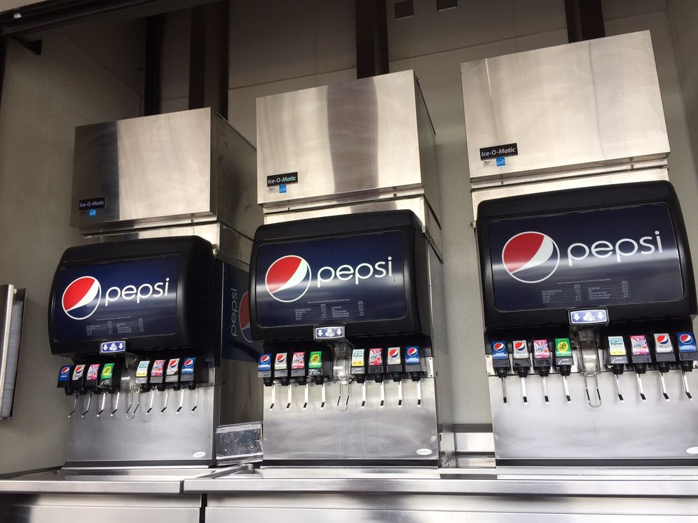 soda machines with calories posting