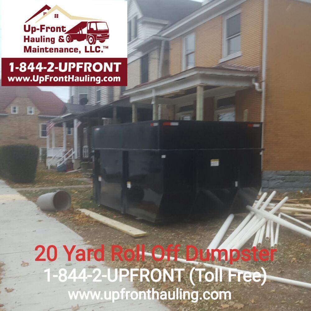 Up-Front Hauling & Maintenance: Pittsburgh, PA