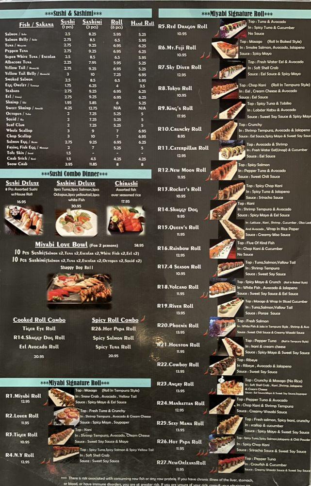 Miyabi Sushi: 4502 Hwy 6 N, Houston, TX