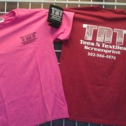 Tees n textiles screenprint screen printing t shirt for Louisville t shirt printing