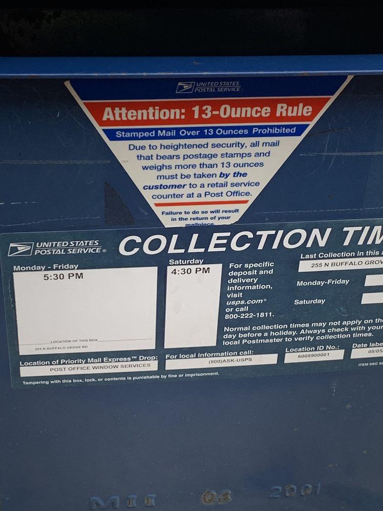 United States Postal Service: 255 N Buffalo Grove Rd, Buffalo Grove, IL