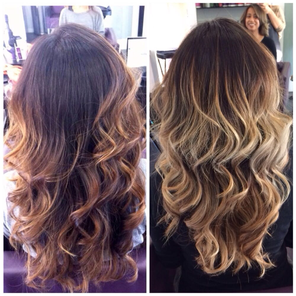 Styled by Laura; before and after; cut and color; balayage ...