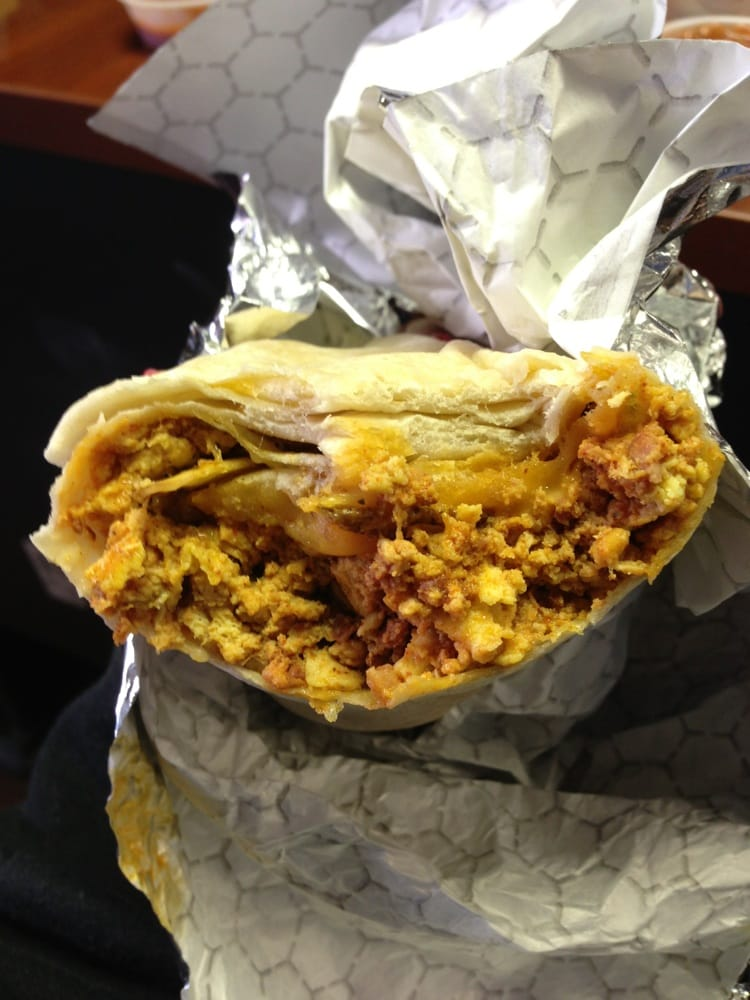 ... States. Chorizo sausage, eggs, potatoes and cheese Breakfast Burrito