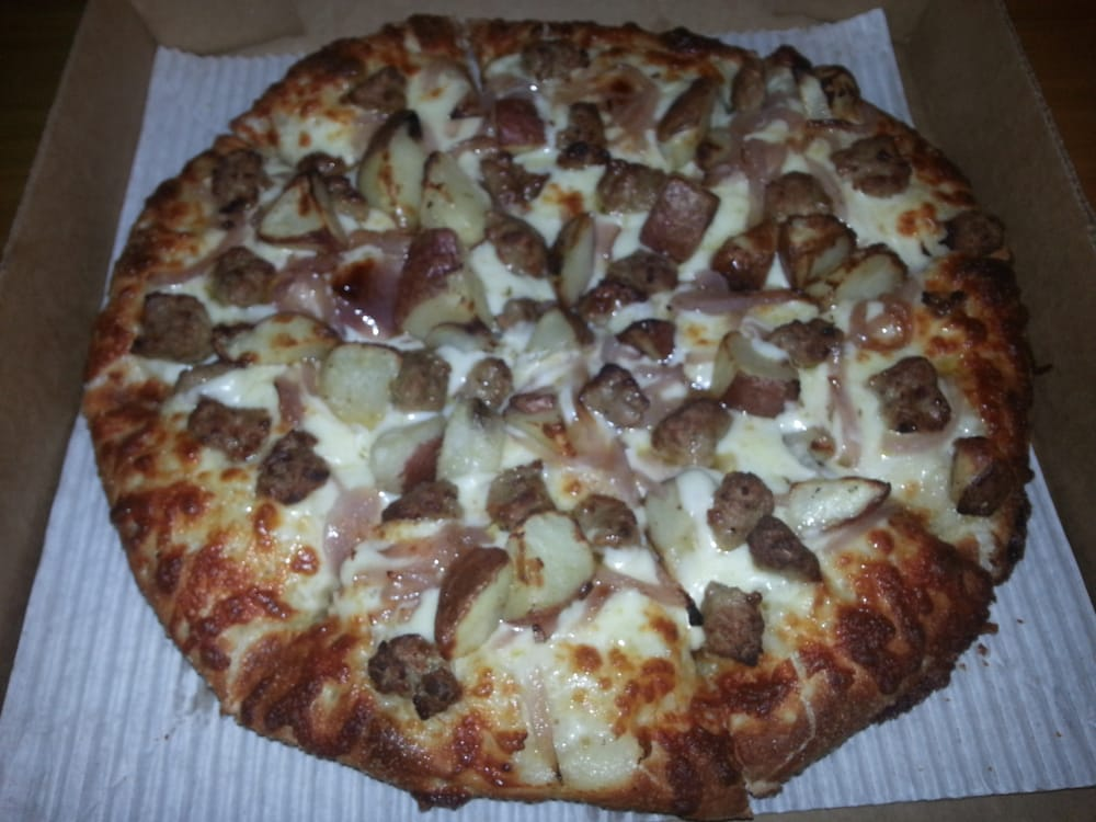 ... pizza - rosemary potatoes, italian sausage, and caramelized onions