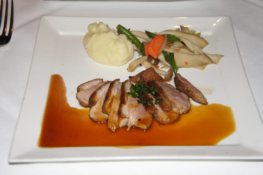 Pan-Roasted Maple Leaf Duck Breast à l'Orange Sauce with Shimeji ...