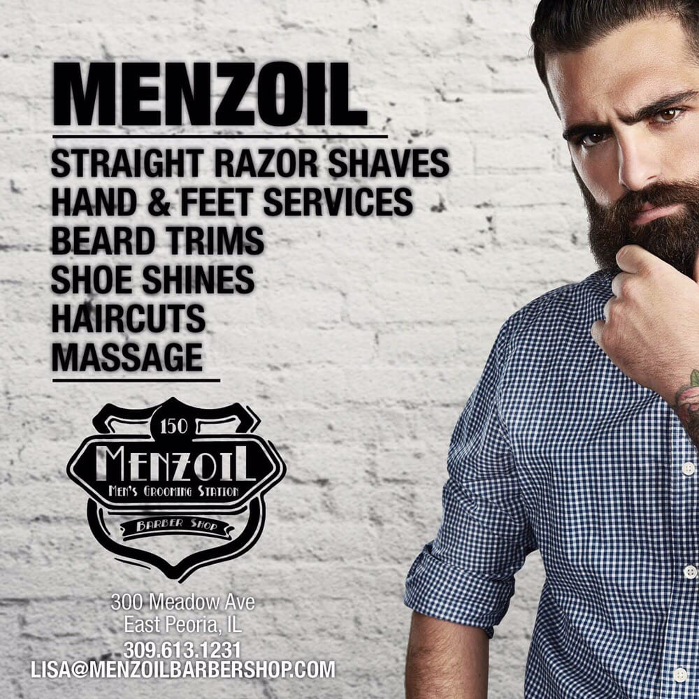 Menzoil Men's Grooming Station & Barbershop: 300 Meadow Ave, East Peoria, IL