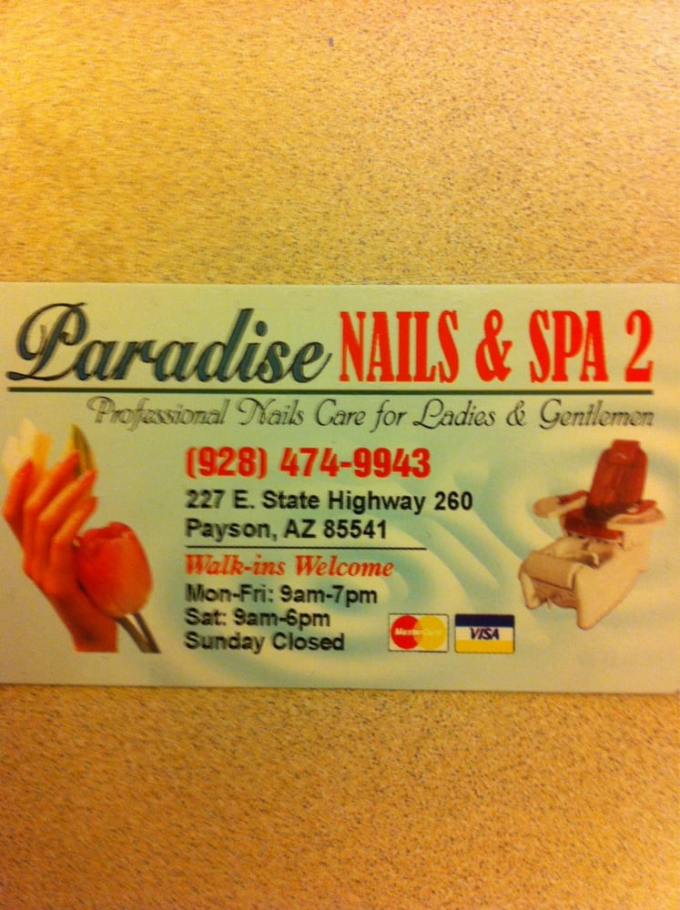 Paradise Nails and Spa: 227 E State Hwy 260, Payson, AZ