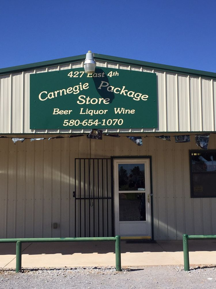 Carnegie Package Store: 20 E Main, Carnegie, OK