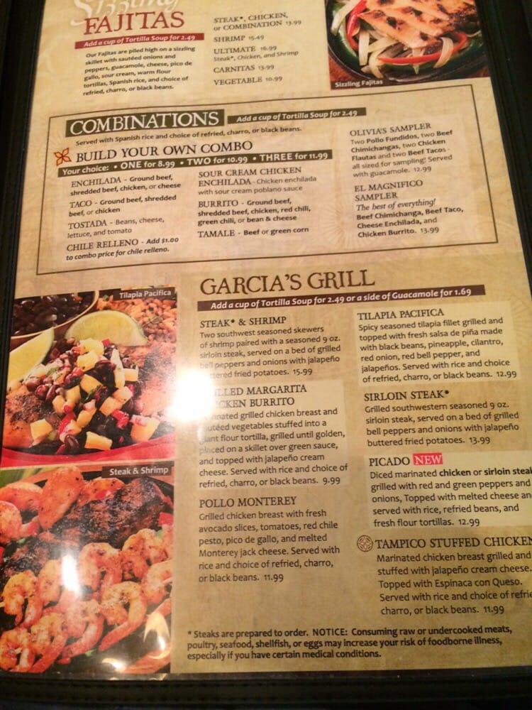 Permalink to Garcias Mexican Restaurant Menu