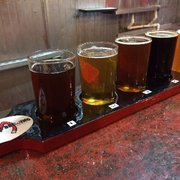 Photo of Magnetic Brewing - San Diego, CA, United States. Tasting flight of 5 beers.