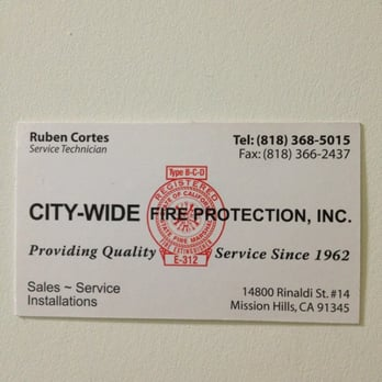 city wide fire protection fire protection services 14800 rinaldi